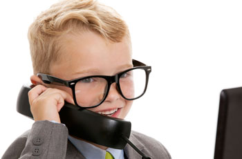 Estate agent on phone