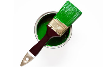 Paint tin & paintbrush