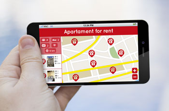 Finding property on mobile phone