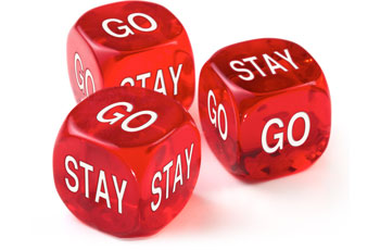 Stay or Go dice