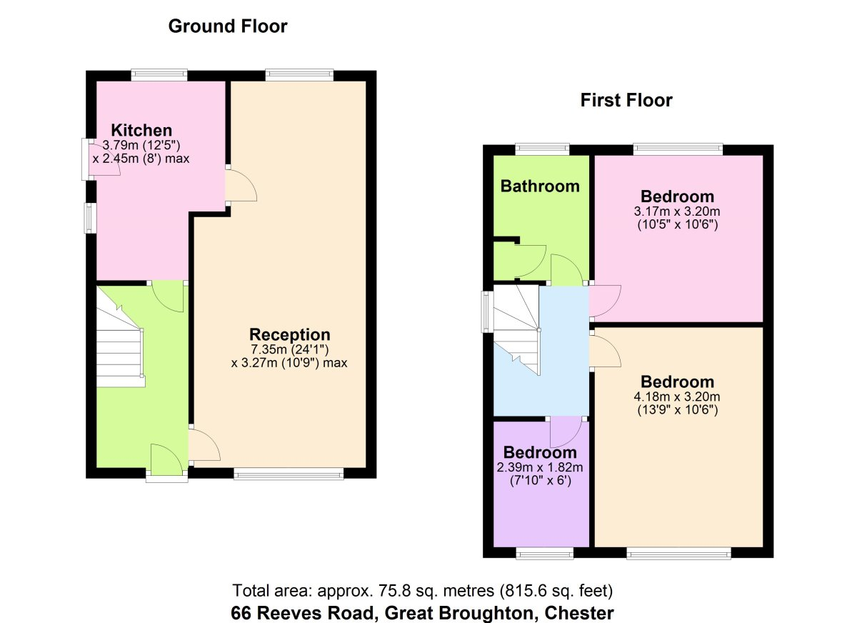 Reeves Road, Chester Floorplan