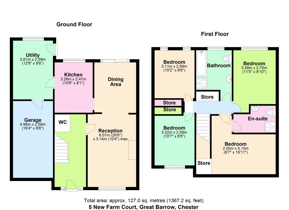 New Farm Court, Chester Floorplan