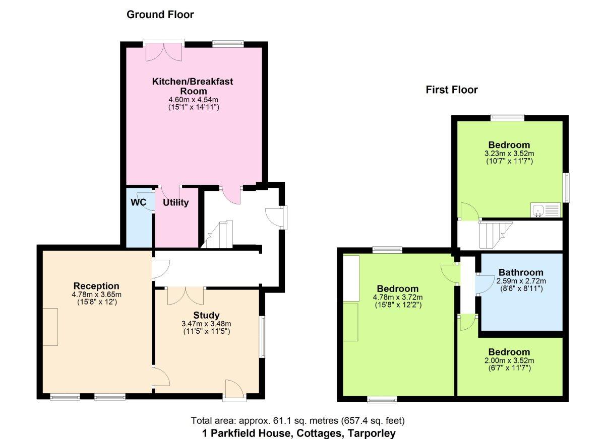 Parkfield House Cottages,  Floorplan