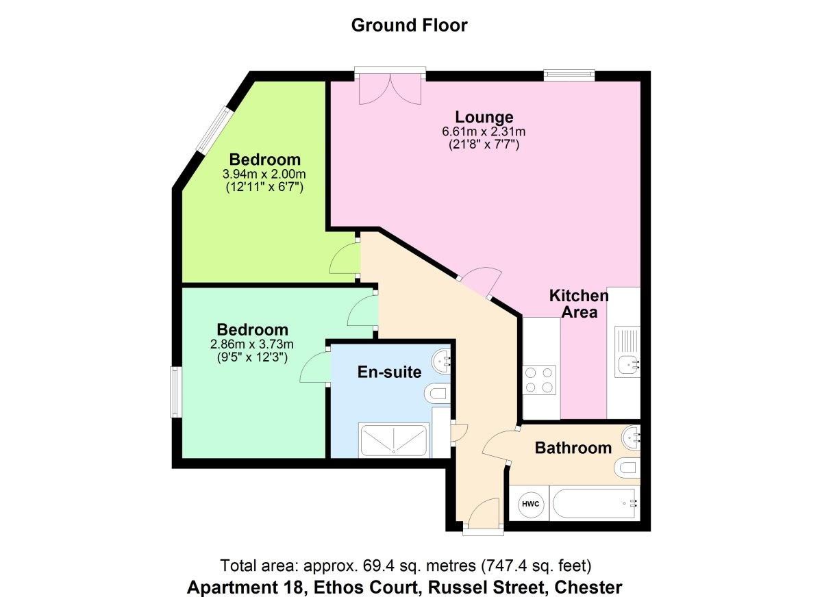 Ethos Court, Chester Floorplan