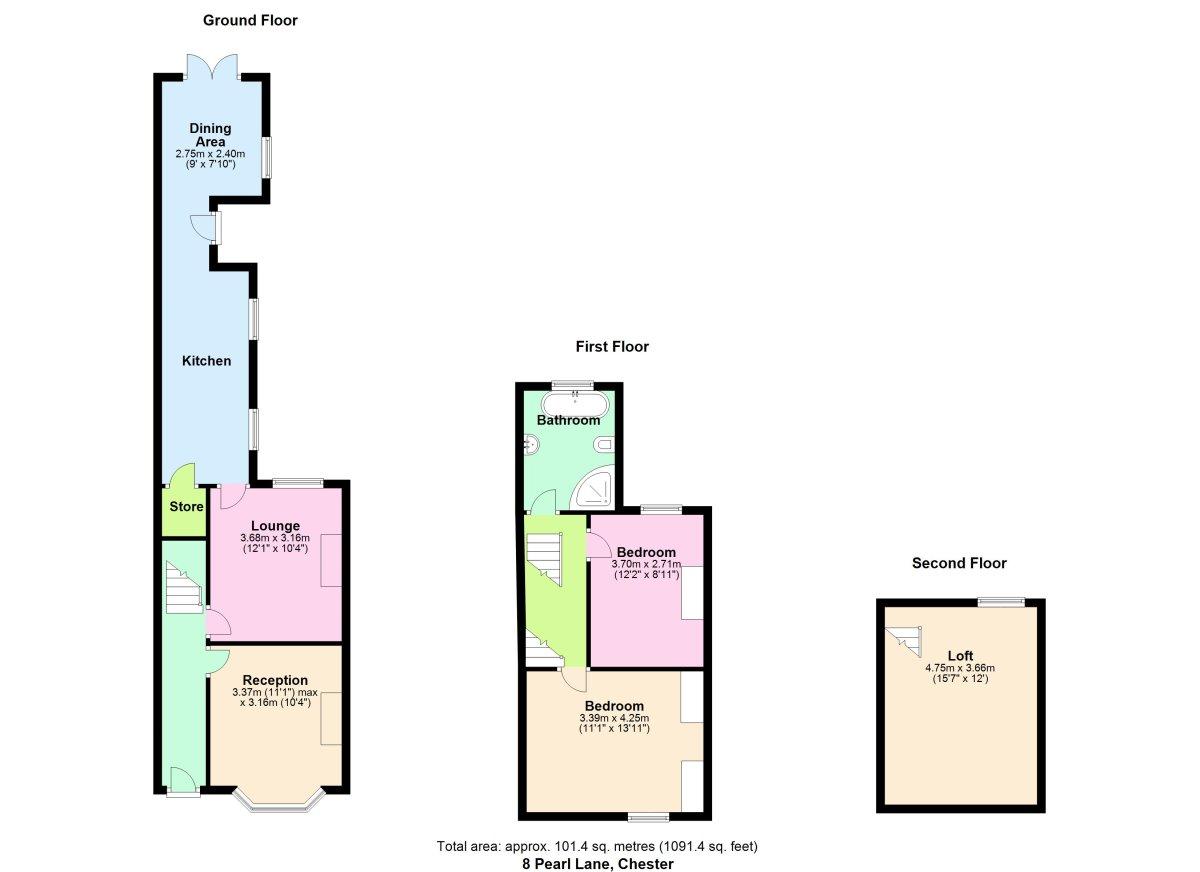 Pearl Lane, Chester Floorplan